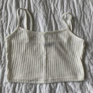 Shein thin ribbed cropped tank top